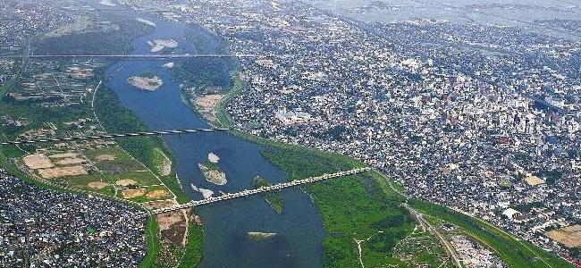 信濃川と橋